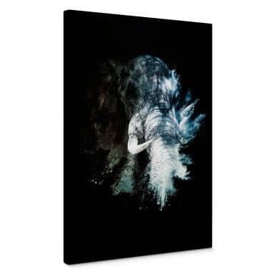 Canvas print Hugonnard - Wild Explosion: Elephant