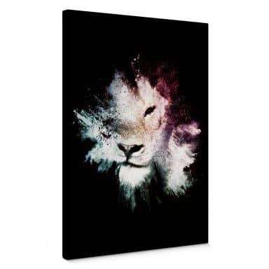 Leinwandbild Hugonnard - Wild Explosion: Löwe