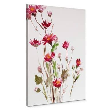 Leinwandbild Illustrierte Wildblume