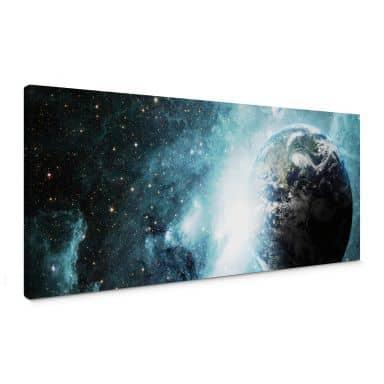 Leinwandbild In einer fernen Galaxie - Panorama
