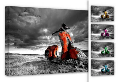 Ingibergsson - Old rusted Vespa Canvas print (choose your colour)