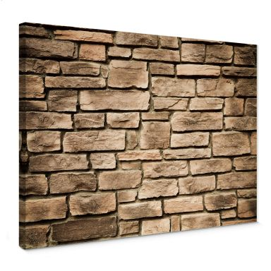 Italian Stone Wall Canvas print
