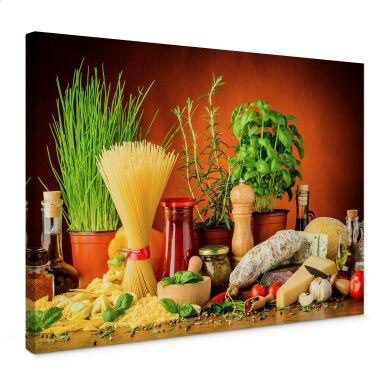Tableau sur toile - Cuisine italienne