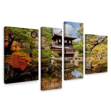 Japanese Temple Canvas print (4 parts)