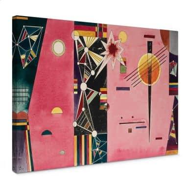 Leinwandbild Kandinsky - Rosa Rot