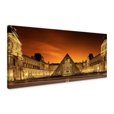 Kiciak - Illuminated Louvre Canvas print