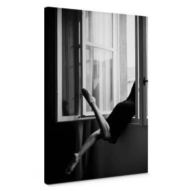 Leinwandbild Kijurko - Am Fenster
