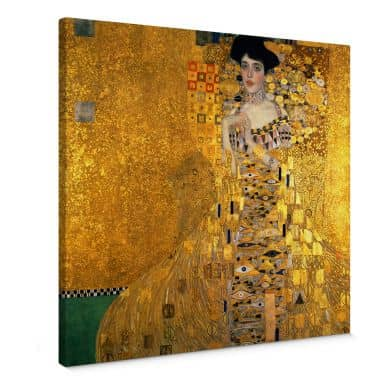 Klimt - Portrait of Adele Bloch-Bauer I Canvas print