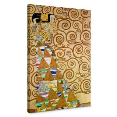 Klimt - Expectation Canvas print
