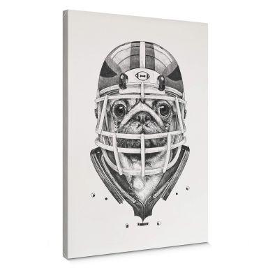 Leinwandbild Kools - American Pug Football