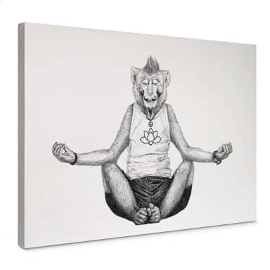 Leinwandbild Kools - Monkey Yoga