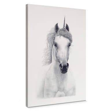 Leinwandbild Korenkova - White unicorn