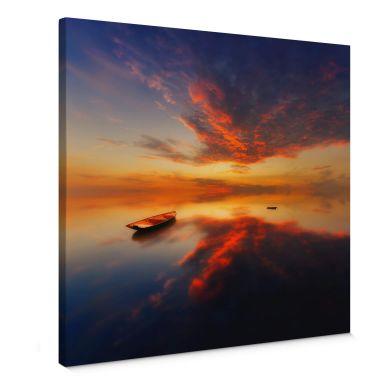 Leinwandbild Krol - Ein leuchtender Sonnenuntergan
