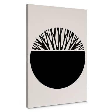 Leinwandbild Kubistika - Baum des Lebens - Schwarz