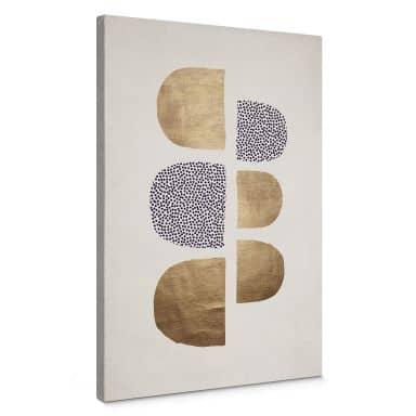 Leinwandbild Kubistika - Golden Geometrica