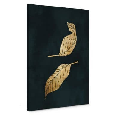 Canvasbillede - Kubistika - Gyldne blade