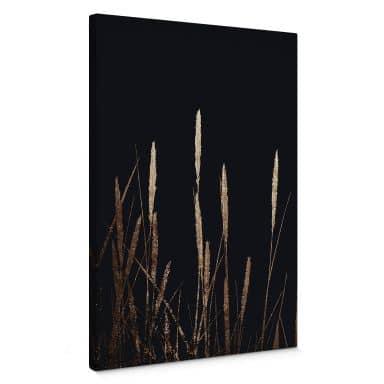 Leinwandbild Kubistika - Goldene Felder