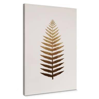 Canvas Kubistika - Golden Fern