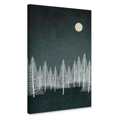 Canvas print Kubistika - Small winter moon