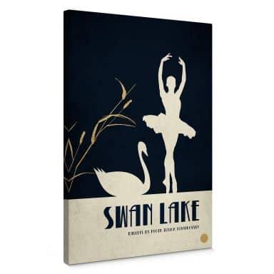 Canvas Print Kubistika - Swan Lake