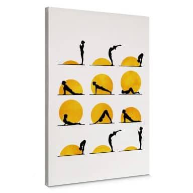 Canvas Print Kubistika - Yoga