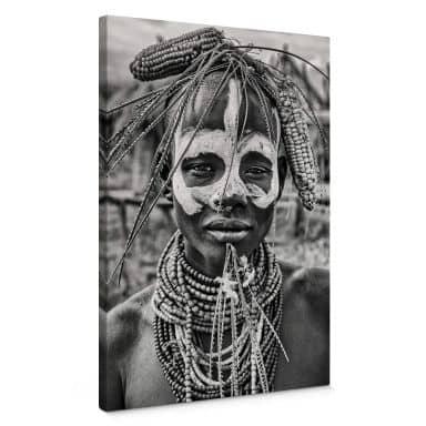 Leinwandbild Kuesta - Porträt eines äthiopischen Stammes