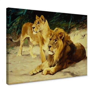 Leinwandbild Kuhnert - Löwenpaar