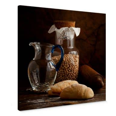 Leinwandbild Laercio - Italian Breads - quadratisc