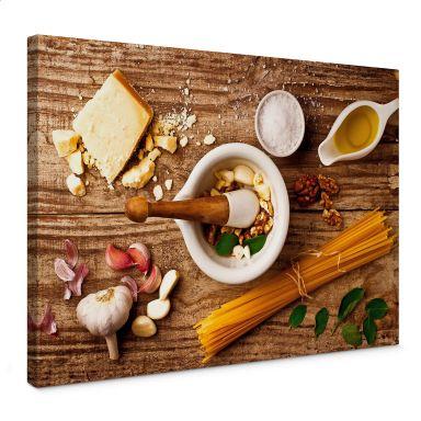 Leinwandbild Laercio - Pesto Rezept