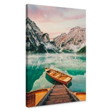 Leinwandbild Lago di Braies