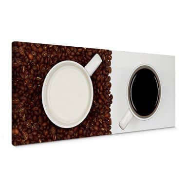 Canvasbillede - Coffee pleasure - Panorama
