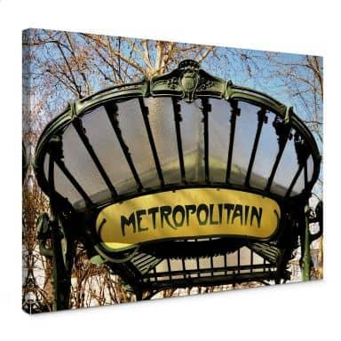 Leinwandbild Le Métro
