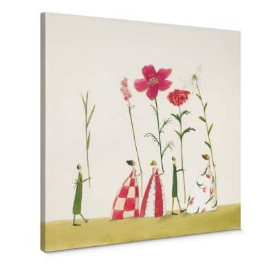 Leinwandbild  Leffler - Blumenträger