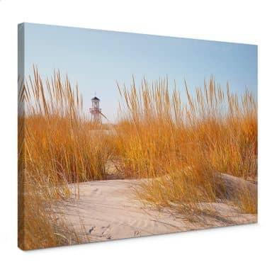 Light House on the Beach Canvas print