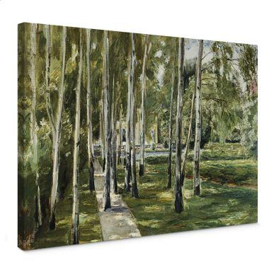 Liebermann -  The garden of the Artist (1918) Canvas print