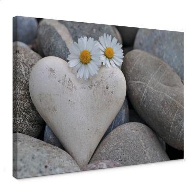 Tableau sur toile - Les fleurs de l'amour