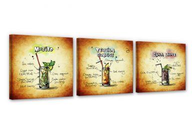 Citaten Kunst Zombie : Wijn en cocktails op canvas wall art.nl