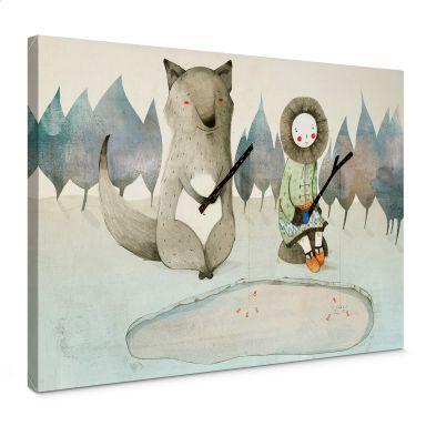 Leinwand Loske - Das kleine Inuitmädchen und der