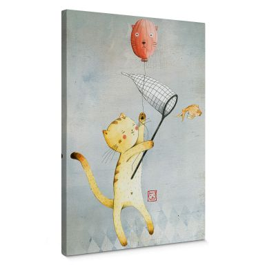 Loske - Cat with Balloon Canvas print