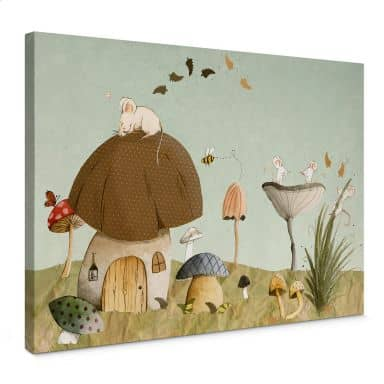 Loske - Mice Garden Canvas print
