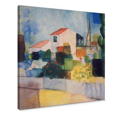 August Macke The Bright House Canvas print