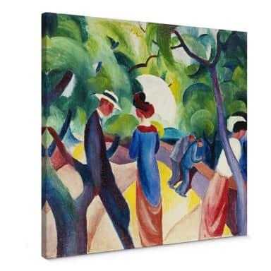 Macke - Promenade Canvas print