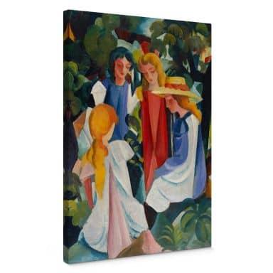 Canvas Print Macke – Four Girls