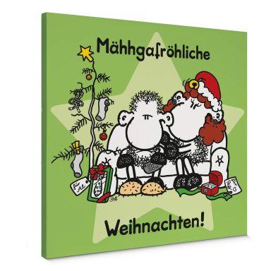 Leinwandbild sheepworld Mähhgafröhliche Weihnachten!