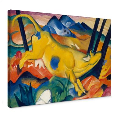 Marc - The Yellow Cow Canvas print