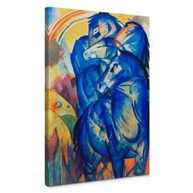 Leinwandbild Marc - Turm der blauen Pferde