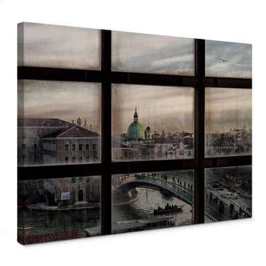 Leinwandbild Marini - Fenster in Venedig