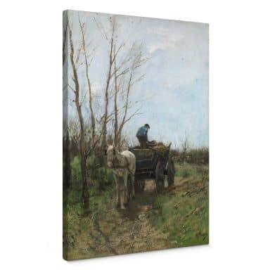 Tableau sur toile Mauve - Ramasser du bois