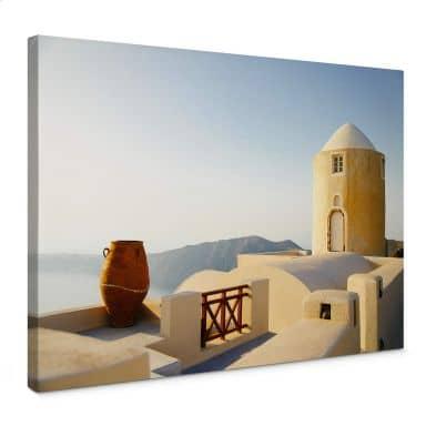 Leinwandbild Mediterrane Aussicht