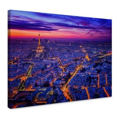 Leinwandbild Miguel - Paris bei Nacht